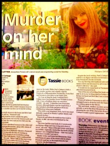Murder on her Mind article in Sunday Tasmanian March 25, 2012