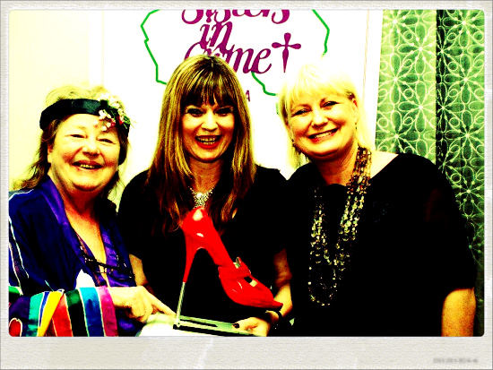 Scarlet Stiletto Award First Prize 2012 with Kerry Greenwood and Marion Boyce