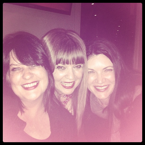 Josephine Pennicott with Amanda Wrangles and Leigh Redhead