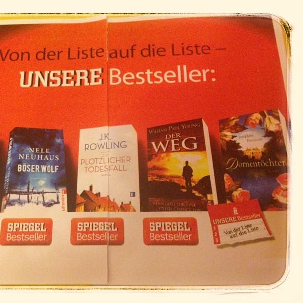 DORNENTÖCHTER (Poet's Cottage) makes the Spiegel Bestseller list in Germany. DORNENTÖCHTER is published by Ullstein.
