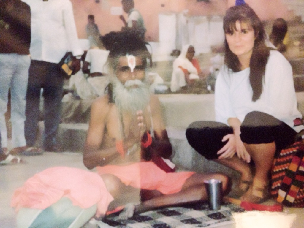 with a Sadhu in India.