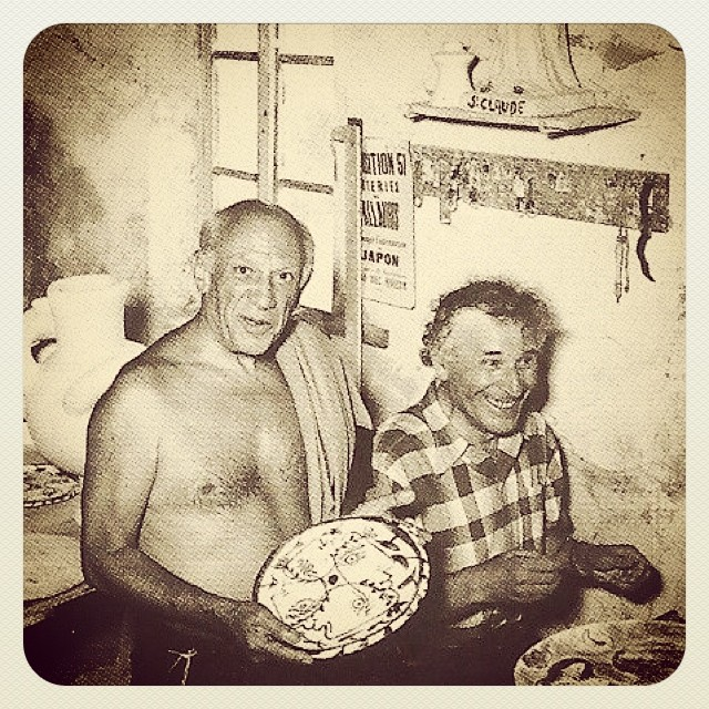 Picasso and Chagall. 'The dignity of the artist lies in his duty of keeping awake the sense of wonder in the world. In this long vigil he often has to vary his methods of stimulation; but in this long vigil he is also himself striving against a continual tendency to sleep.' Marc Chagall #art #picasso #chagall #inspiration #spirit #creativegiants #stayawake
