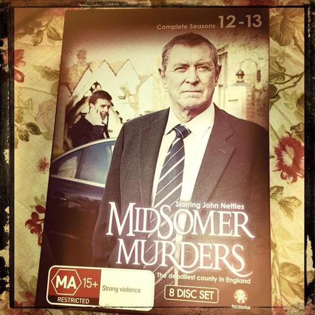 Sunday night ironing and keeping company with my old friend DCI Tom Barnaby. #midsomermurdere #bestshow #hateironing #mystery