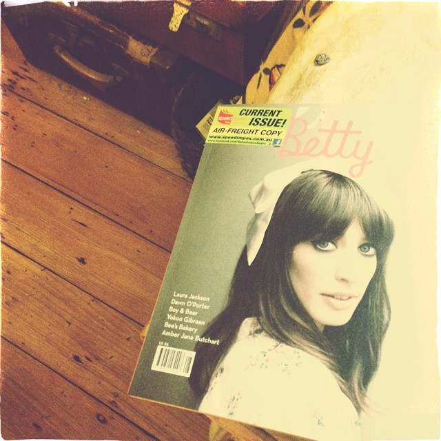 And an air freight issue of pretty Betty with Laura Jackson.as a Betty cover girl. Yes, still buying old school magazines and always will. #magazine #laurajackson #betty #shouldbeculling
