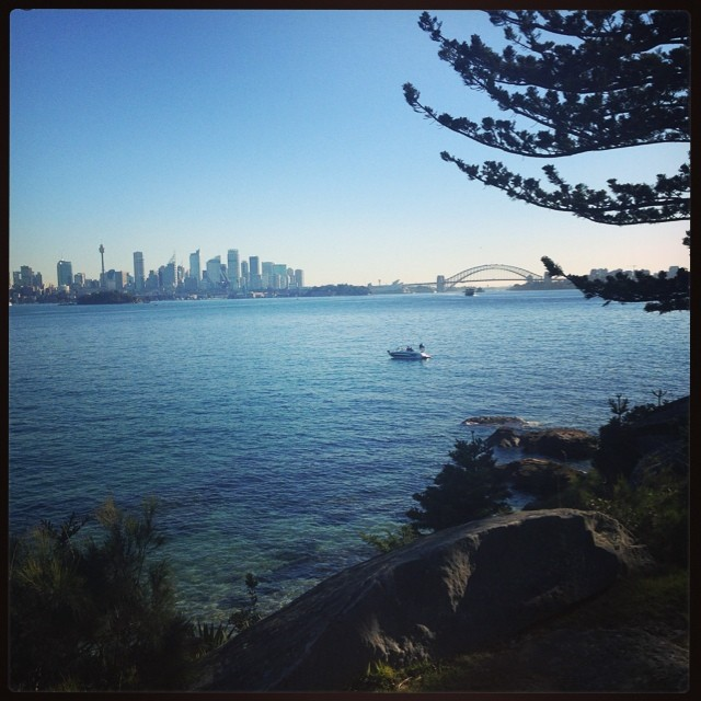 Sydney in winter. A perfect blue. #sydney #sharkisland