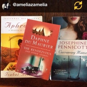 Keeping good company. Thanks to Amelia for the support on Instagram.