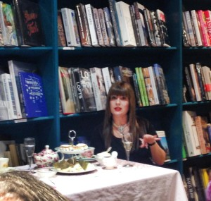 Josephine Pennicott in deep discussion at Better Read than Dead's High Tea