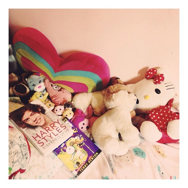Dreams - my girl's bed. Love the combination of pop stars with much loved soft toys. #daisy #motherhood #blessed #grateful