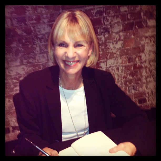 Kate Mosse at Sydney Writers Festival signing my books 2013