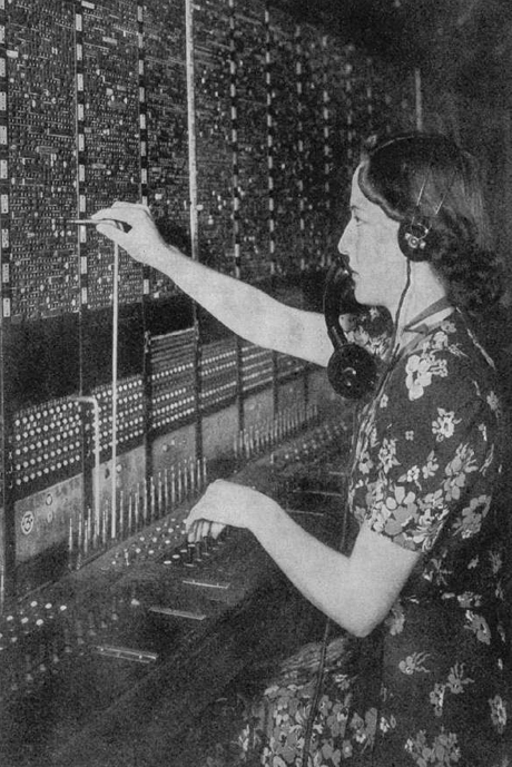 June Wright at work