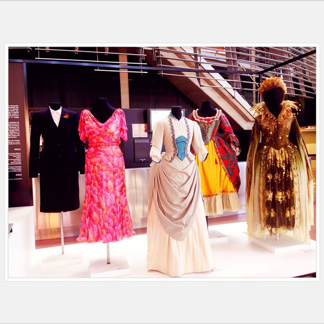 Gorgeous costume display in foyer at NIDA #nida #sydney