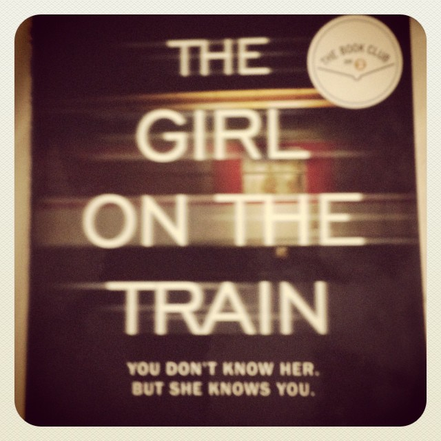 The Girl on the Train is the best book to read when you're terrified of flying and you have turbulence. Read this in one day. #pageturner #thegirlonthetrain #paulahawkins