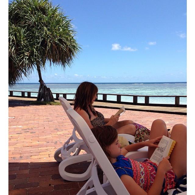 Perfect reading spot. #heronisland  #bookworms #greatbarrierreef #queensland #paradise