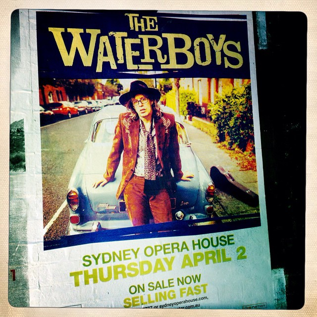 Can't wait to see them play this venue. #waterboys #mikescott #operahouse #sydney