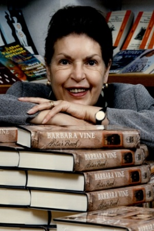 BARBARA VINE WITH BOOKS