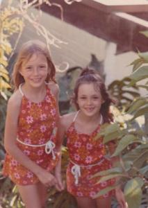 Kate and her sister Belinda