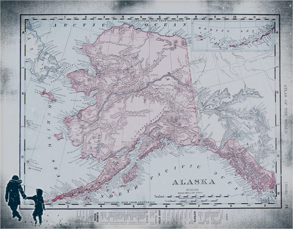 map of Alaska via author's website
