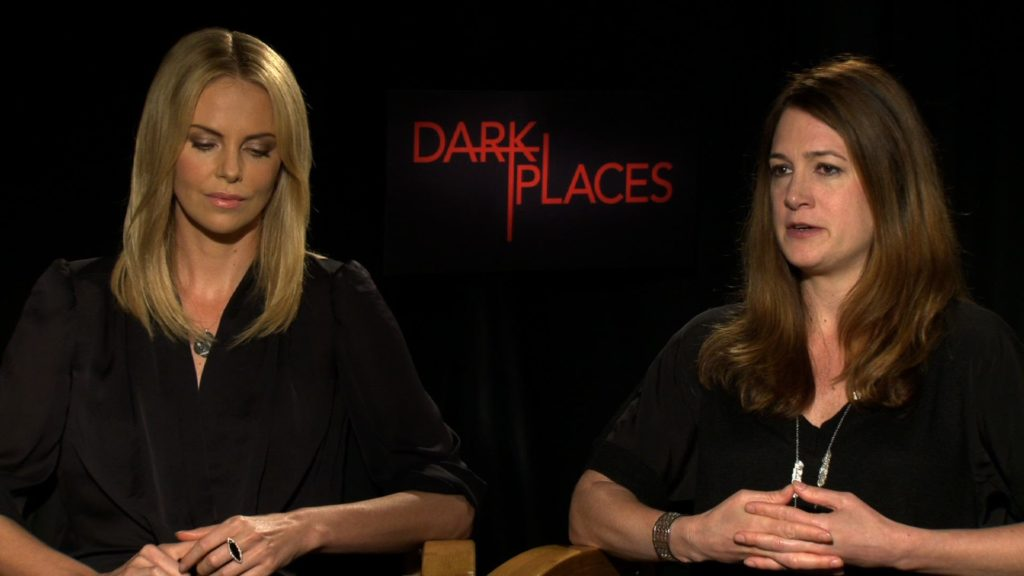 Gillian Flynn on right with Charlize Theron.