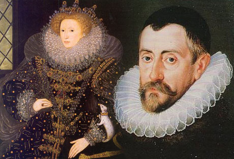 SIR FRANCIS WALSINGHAM AND QUEEN ELIZABETH 1