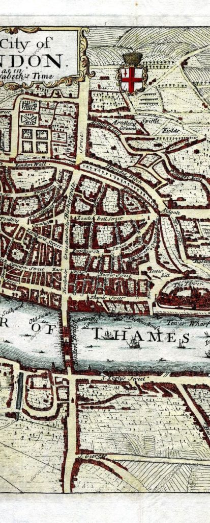 map of london from Elizabeth 1 time