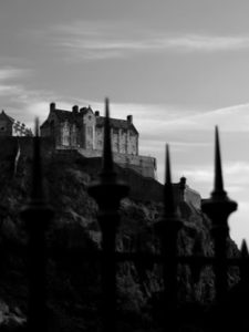image of Edinburgh Castle via Ian Rankin's website
