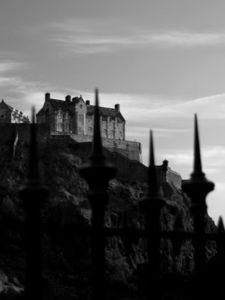 image of Edinburgh Castle via Ian Rankin's website