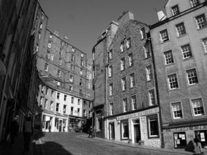 Image of West Bow via website Undiscovered Scotland