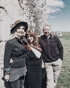 With friends in Avebury on our last day