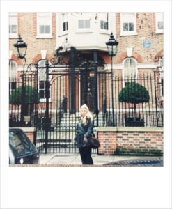 Outside 16 Cheyne Walk London where Rossetti lived from 1862