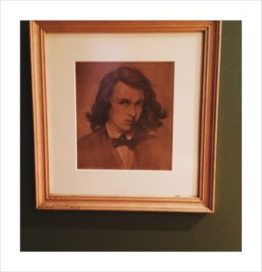 Rossetti's dashing self portrait which hangs in my front room