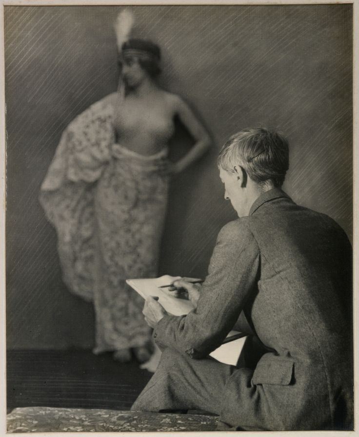 Norman Lindsay at work