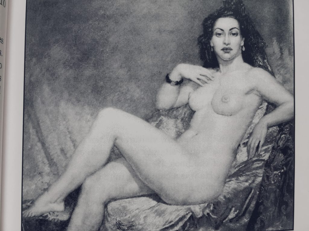 Pearl as model for Norman Lindsay's Imperia
