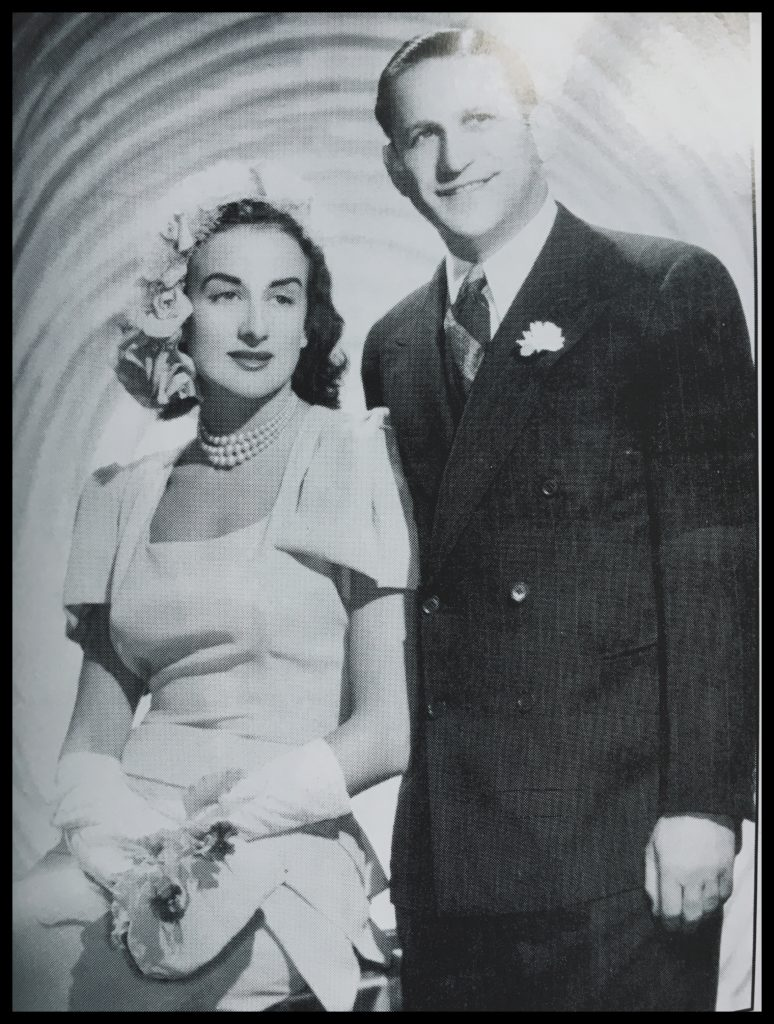 Pearl with first husband, Maurice Copolov, 1946